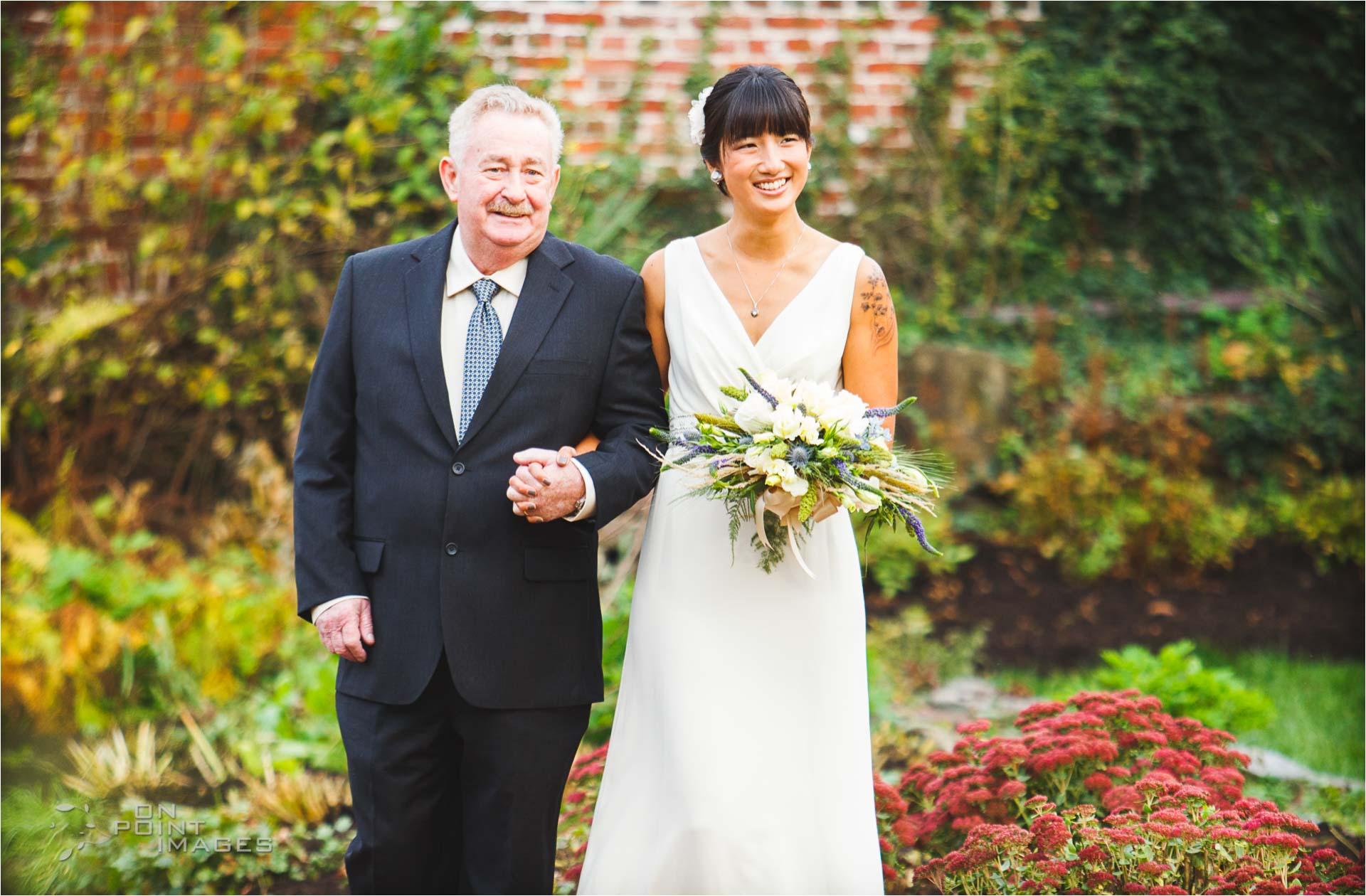 Wedding Ceremony at Webb Barn in Wethersfield