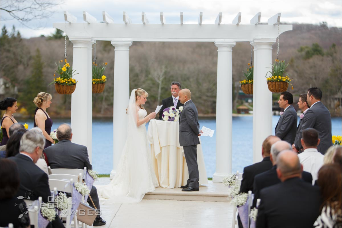 Wedding Ceremony Photography at The Waterview CT