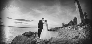 Phoebe & Rob's Wedding Photos at Lighthouse Point Park - New Haven