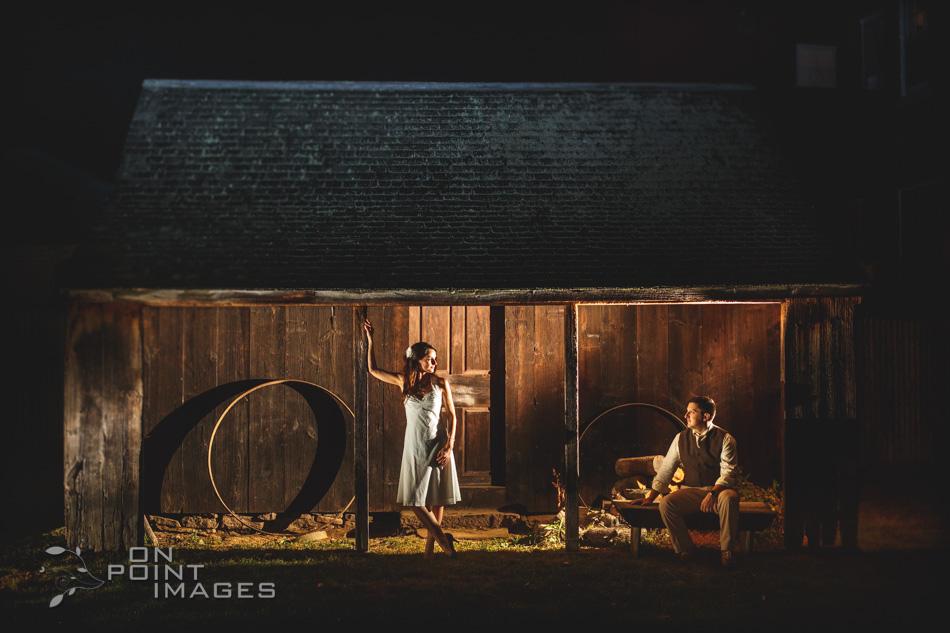 Webb Barn Wedding Photographs - Night Portrait