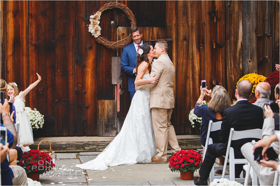 Wedding Photography of Ceremony at Webb Barn in Wethersfield