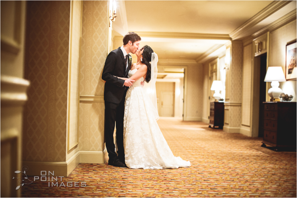 Bride & Groom Wedding Portrait at Omni Hotel New Haven