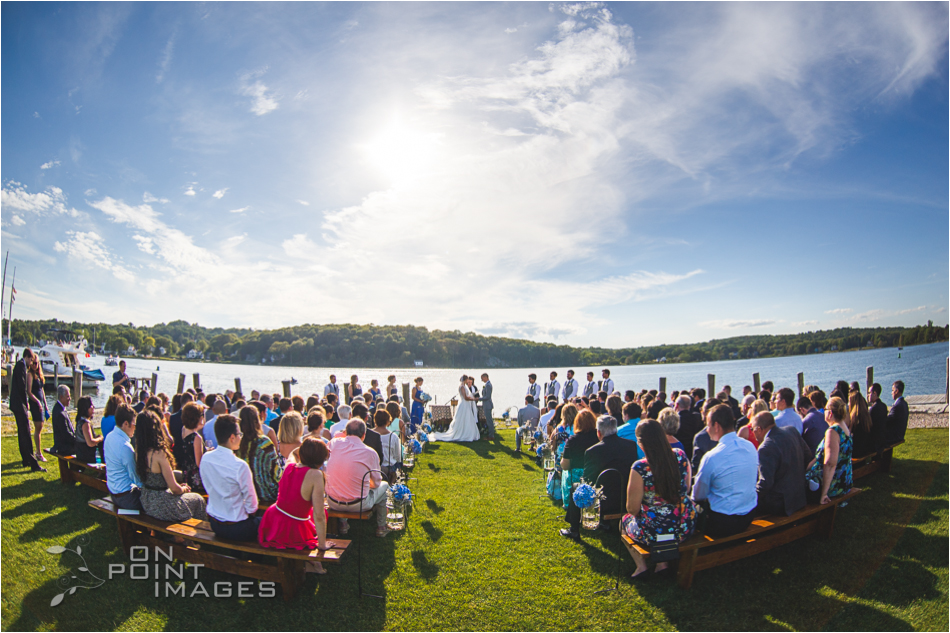 Wedding Ceremony at Latitude 41 in Mystic