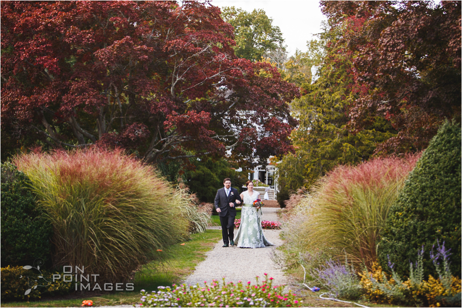 Wedding Ceremony Photographs at Burr Mansion