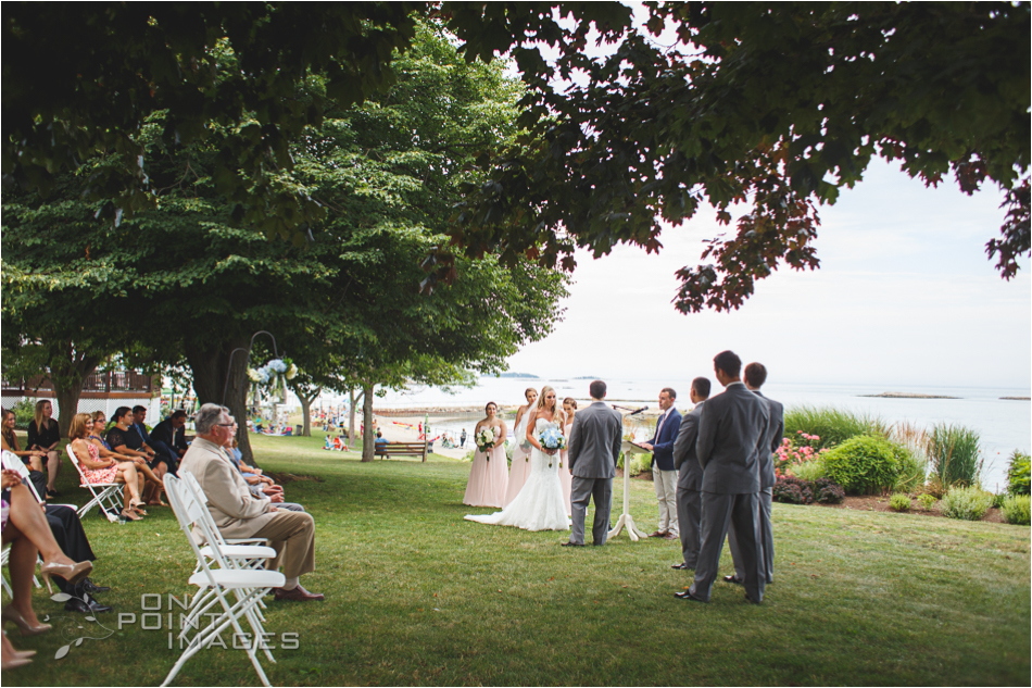 Wedding Ceremony at Owenego in Branford