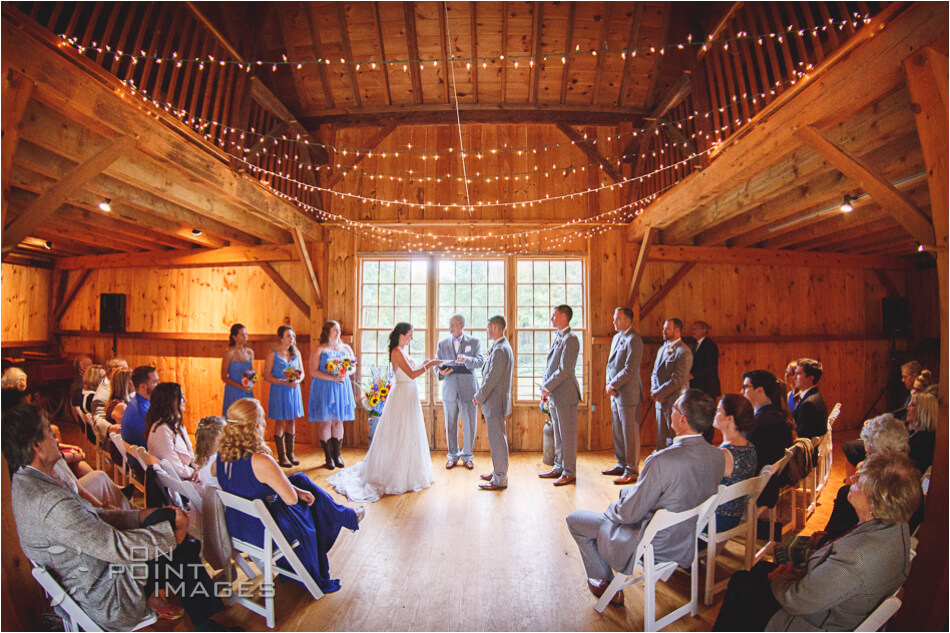 Wedding Ceremony Photo at Dudley Farm in Guilford CT