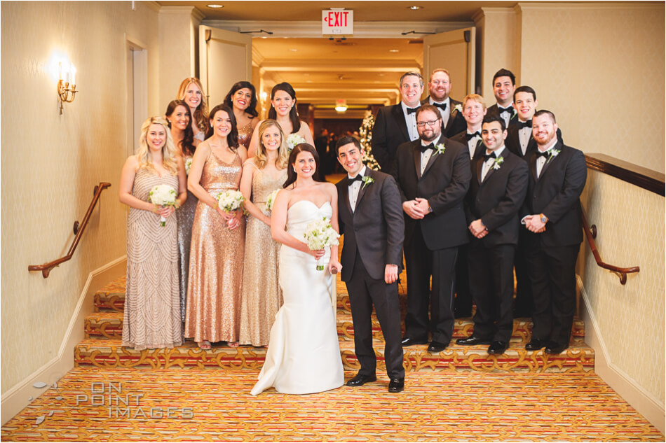 Bridal Party Photograph at The Omni Hotel