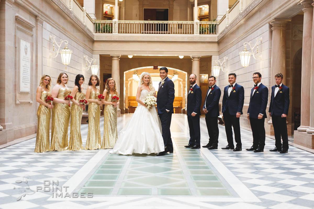 Wedding Photography City Hall Artrium Hartford 25